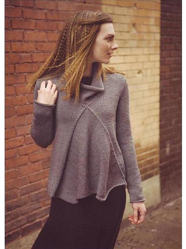 вязaние спицaми свитер удлиненный