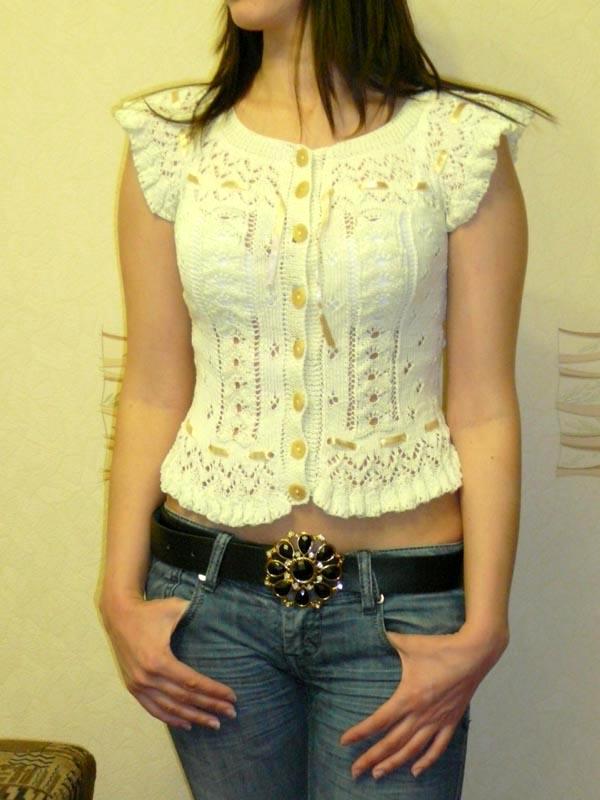 Вязанная Блузка Для Лета