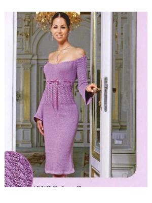 Красивое, праздничное платье спицами