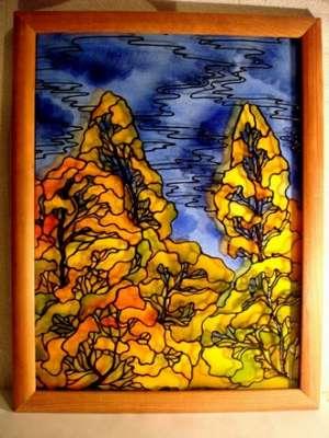 Картины. Роспись по стеклу._3
