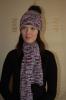 Шапка с меховым помпоном и шарф_1